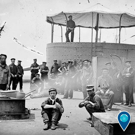 photo of uss monitor crew