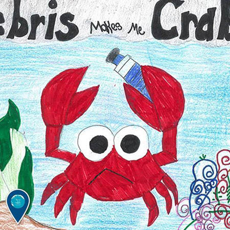 photo of kids drawing of a crab