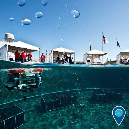 photo of rov under water