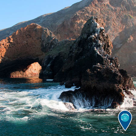 photo of channel islands arch