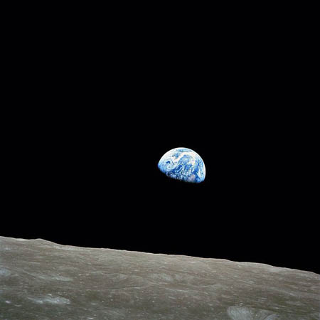 photo of earth from the moon