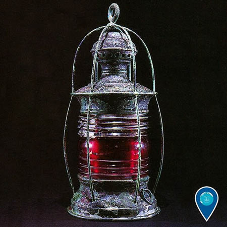 red signal lantern from USS Monitor
