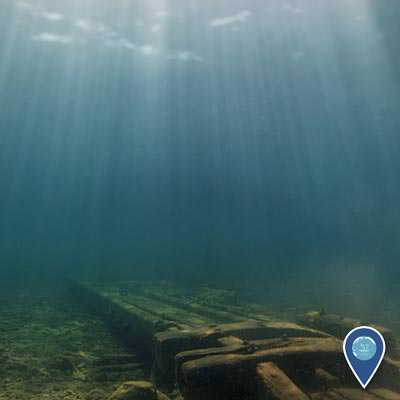 wreck of the american union resting in 10 feet of water