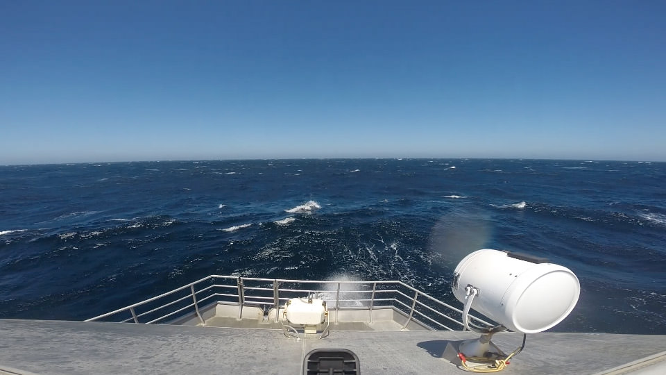 photo of a the sea from a ship