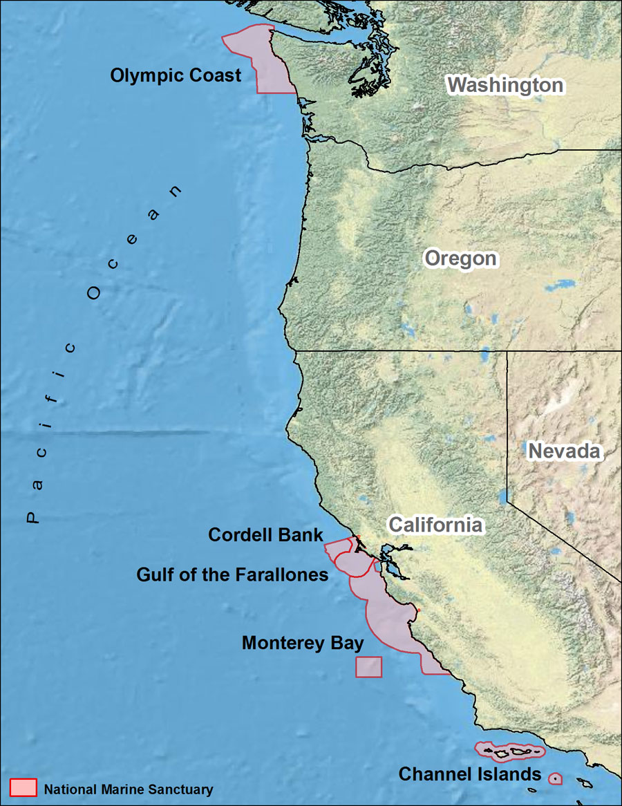 Eastern District Of California Department Of Justice Map Of East - Map us west coast