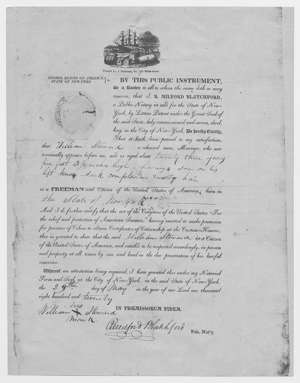For i knew a ship from stem to stern office of national marine photo of a sailors papers from 1820 1betcityfo Image collections