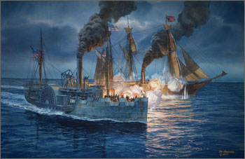 painting of the Hatteras