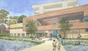 artist rendering of outside of facility