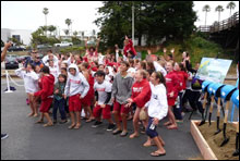 Santa Cruz junior lifeguards cheer the new Sanctuary Exploration Center