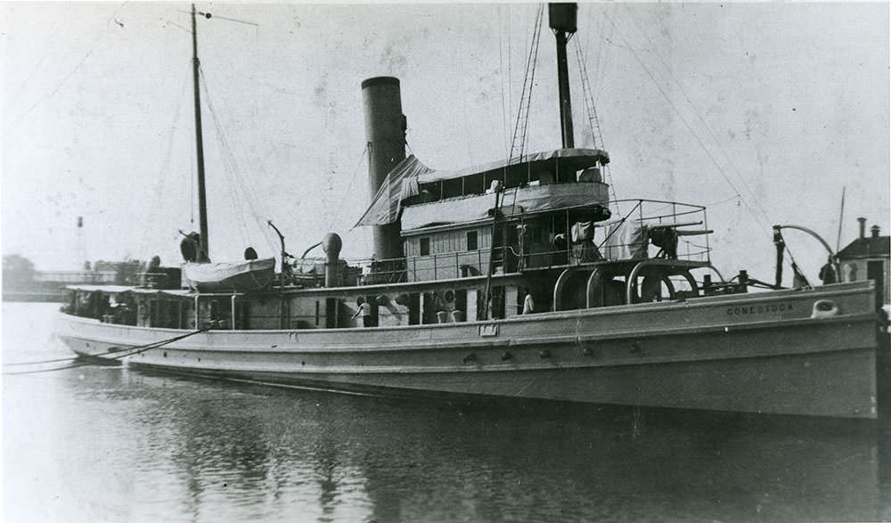 broadside photo of the uss conestoga