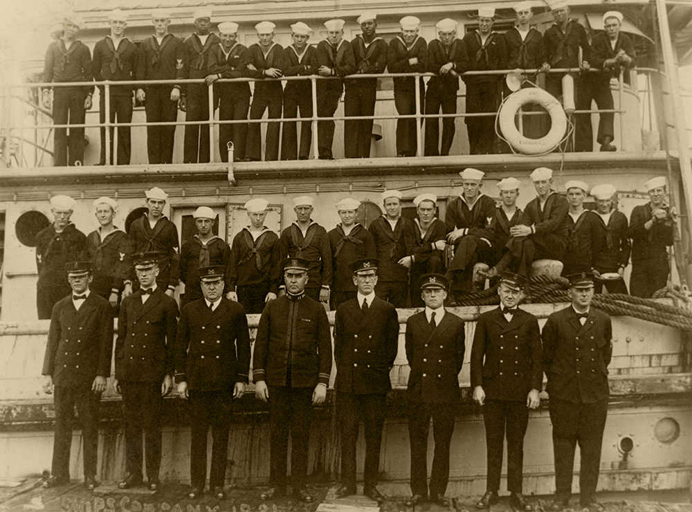 photo of officers and crew shortly before they disappeared