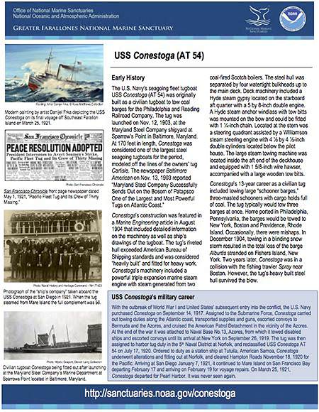 one pager on the uss conestoga (AT 54)