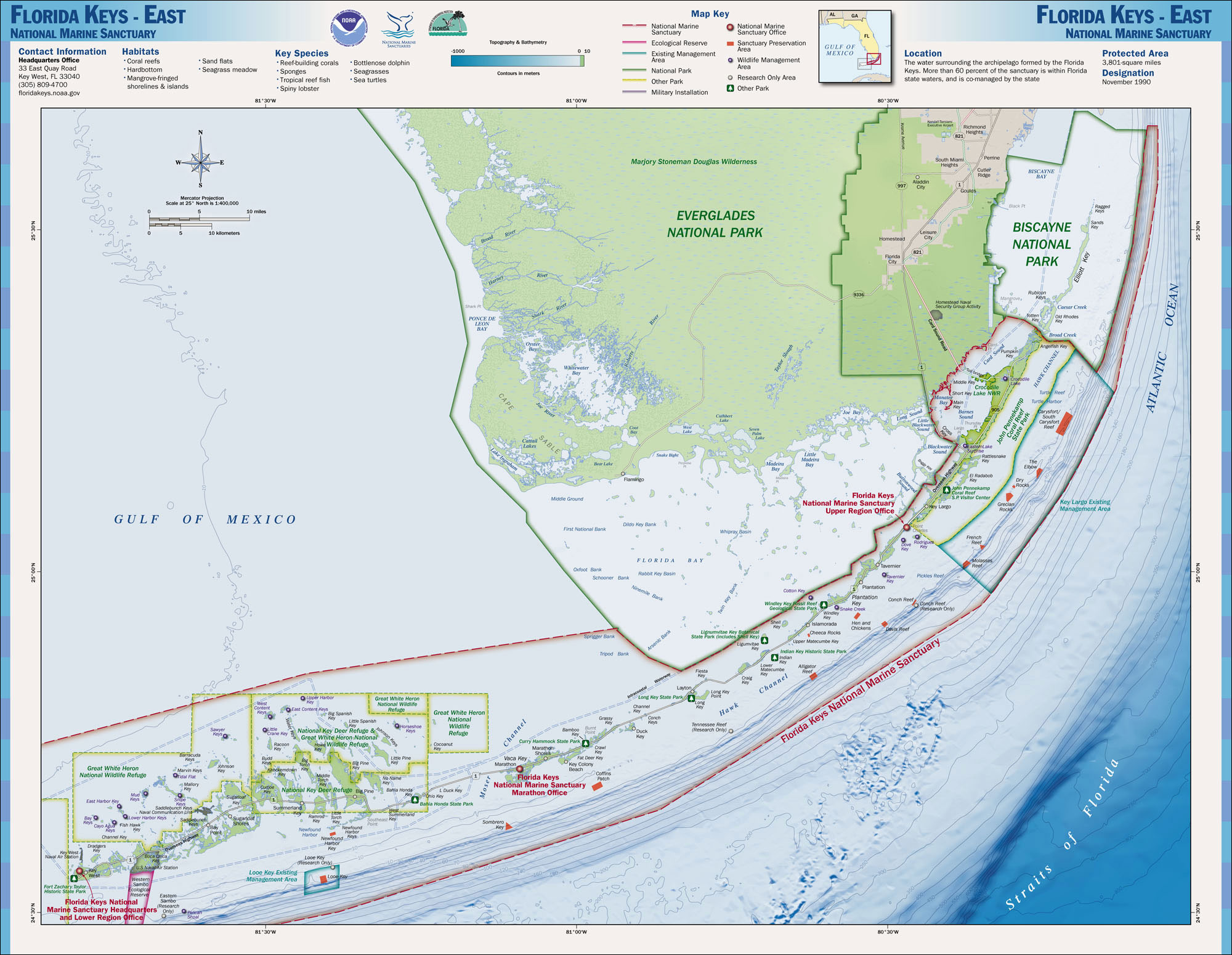 Maps National Marine Sanctuaries - Map of us and oceans