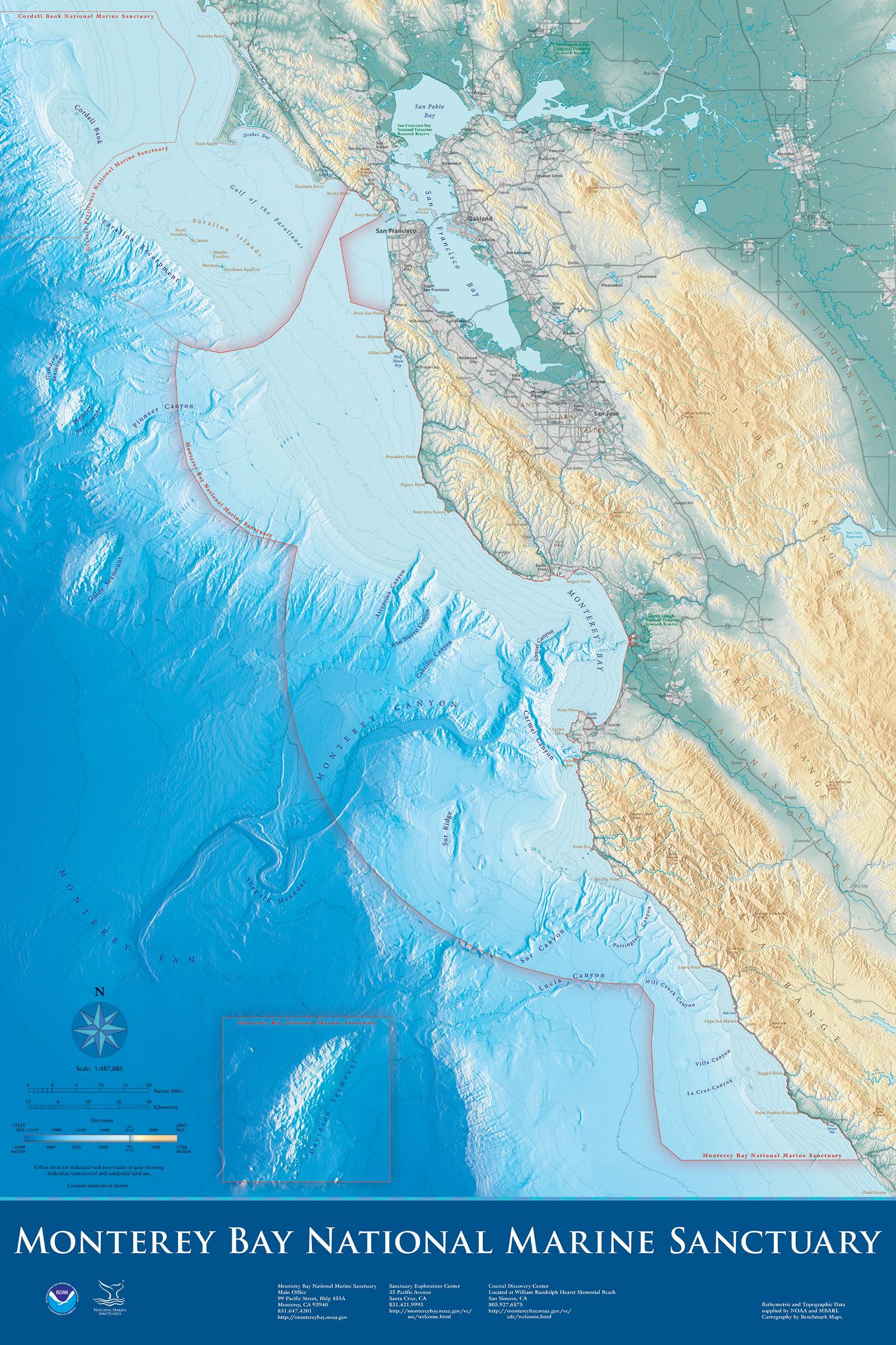 Maps  National Marine Sanctuaries