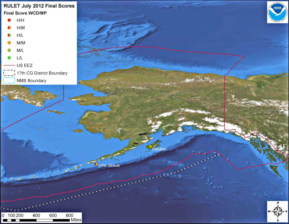 Resource Protection Potentially Polluting Wrecks In US Waters - Us coast guard maps