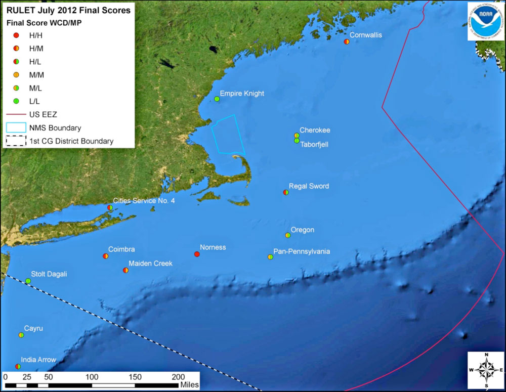 Resource Protection Potentially Polluting Wrecks In US Waters - Us waters map