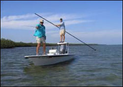 Figure 16. Fly-fishing is a popular way to fish for bonefish in the Florida Keys.