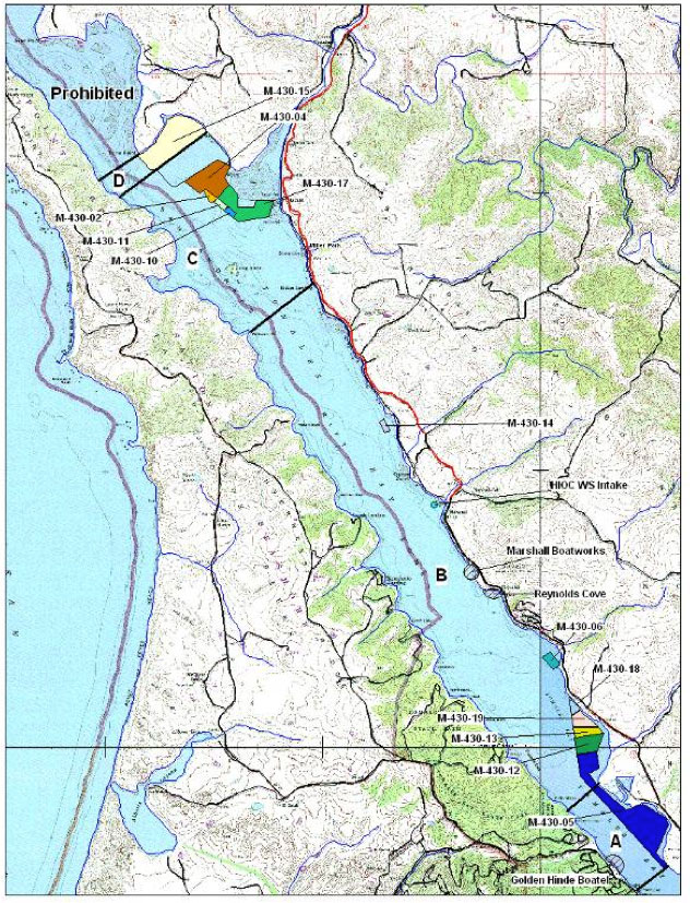 National marine sanctuaries condition reports monterey for Tomales bay fishing report