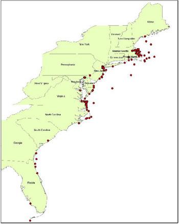 National Marine Sanctuaries Condition Reports - Us map eastern seaboard