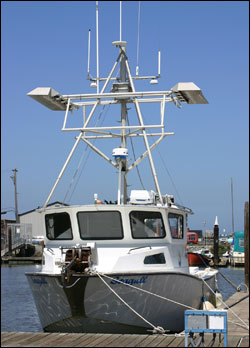 Figure 17. Squid fishing boat in Moss Landing Harbor. Photo: R. Stamski, NOAA/MBNMS/SIMoN