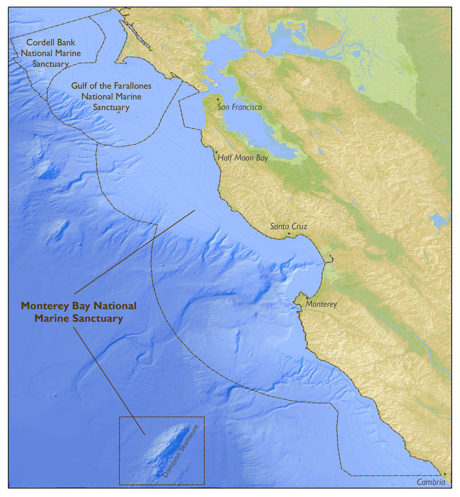 map of monterey bay