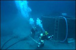 Monitor's Turret underwater.