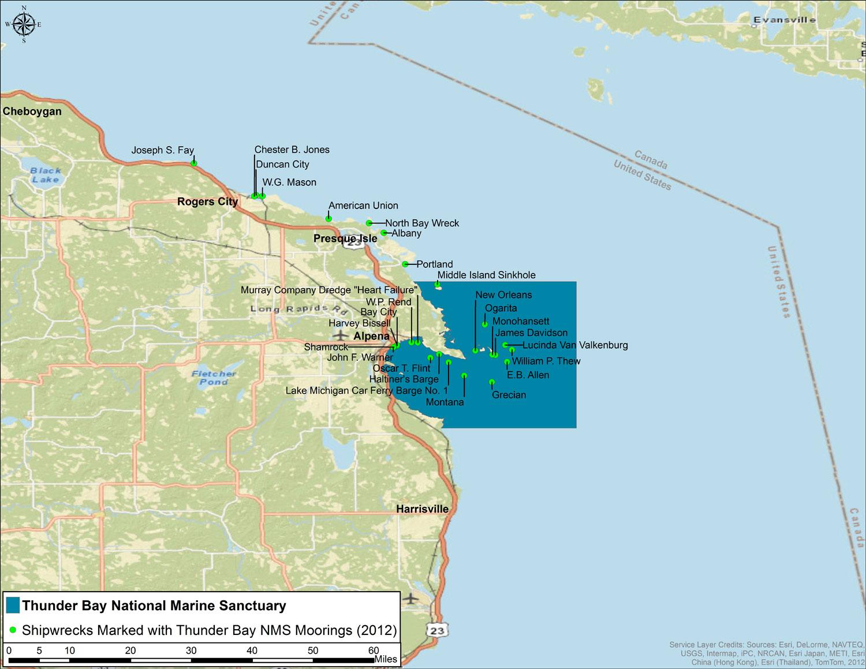 Thunder Bay Michigan Map.Thunder Bay 2013 Condition Report