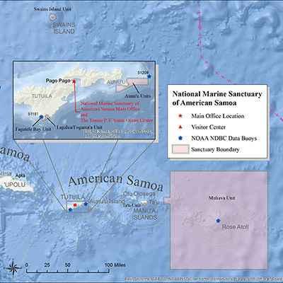 map depicting american samoa office headquarters