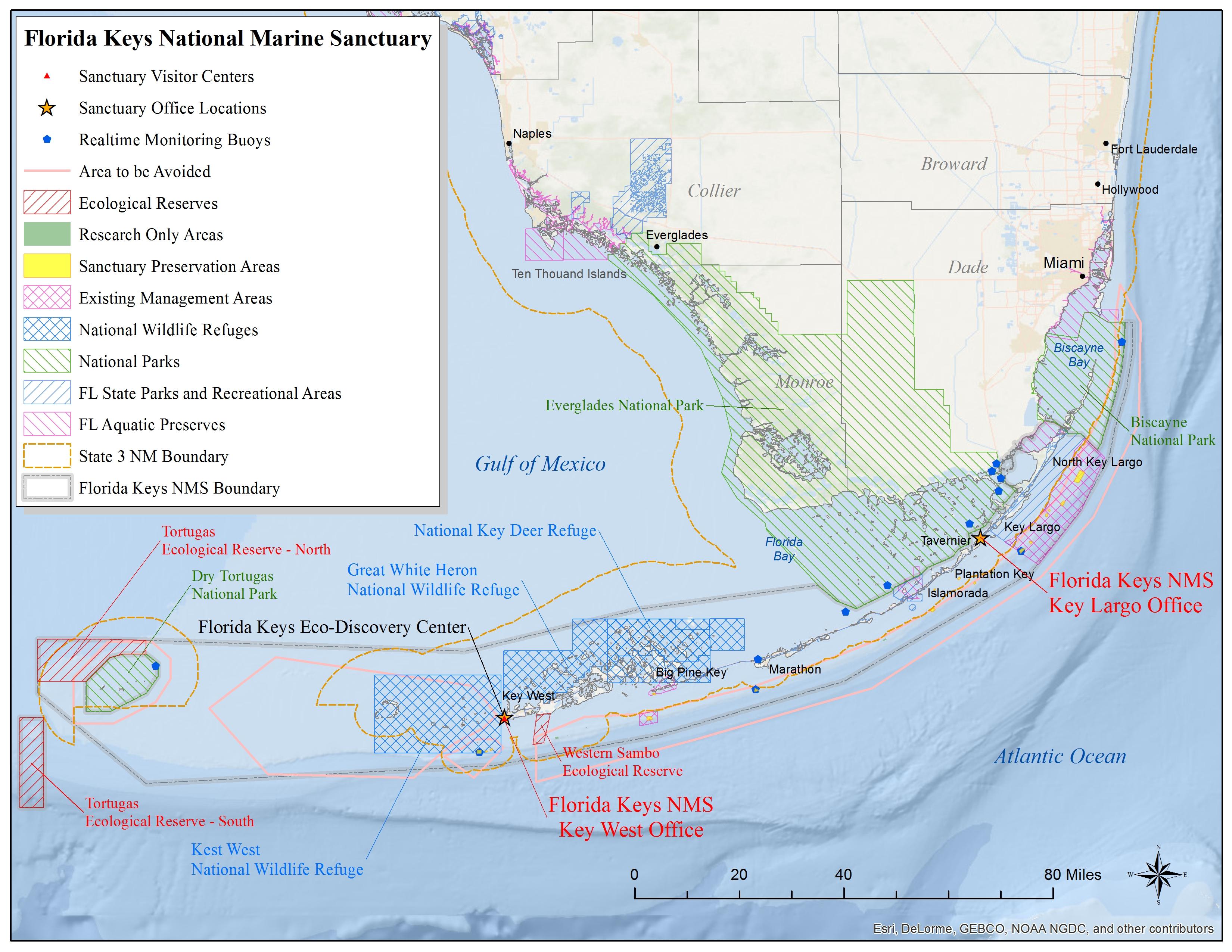 Florida Keys Map.Florida Keys Map National Marine Sanctuaries