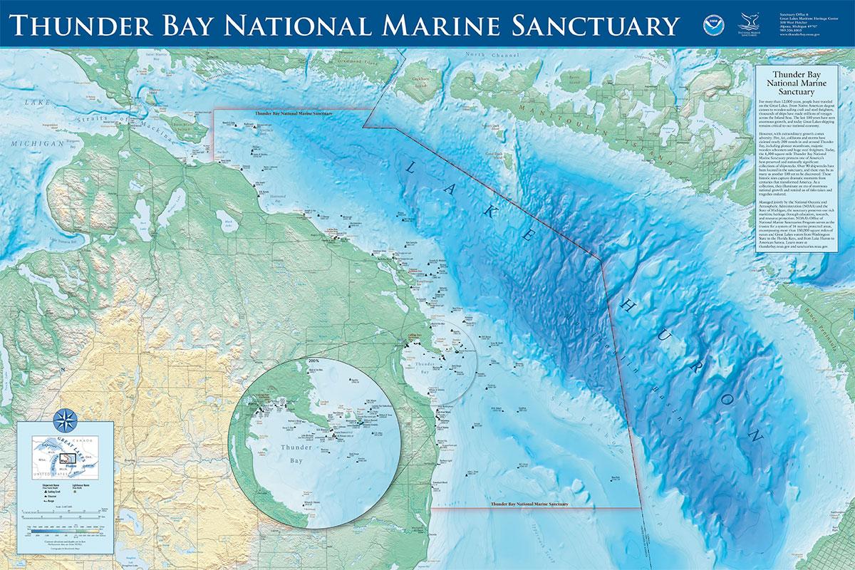 Thunder Bay Michigan Map.Thunder Bay Map