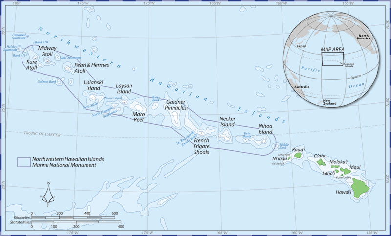 State of the sanctuary report northwestern hawaiian islands marine northwestern hawaiian islands marine national monument map gumiabroncs Images