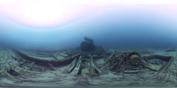 the remains of the w.p thew on the bottom of the lake