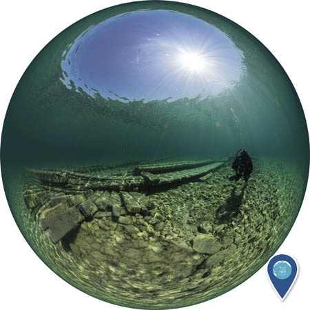 360 photosphere of the wreck of the american union