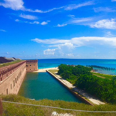 dry tortugas and ocean