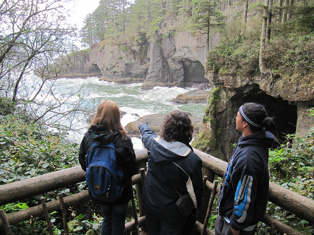 visitors at cape flattery