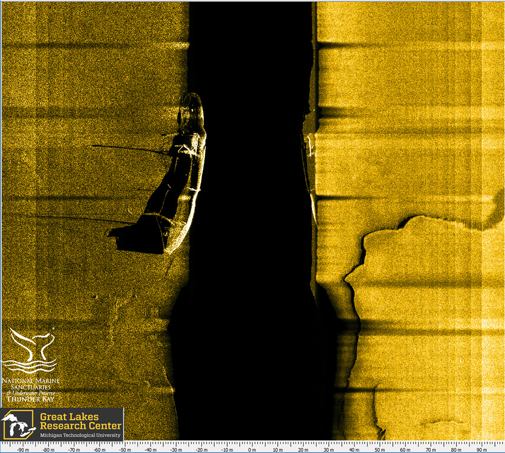 sonar scan of the wooden bulk carrier ohio