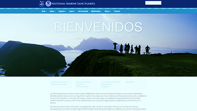 spanish language portal screenshot