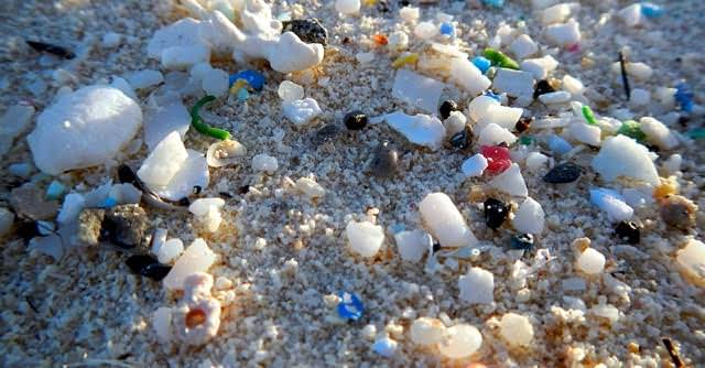 microplastics on the beach