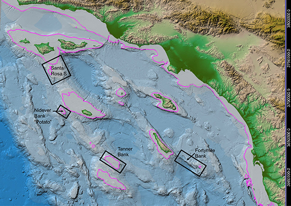 map of proposed targets in and around channel islands national marine sanctuary
