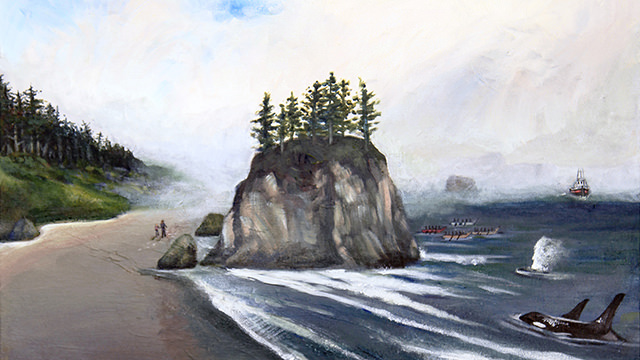 painting of olympic coast national marine sanctuary