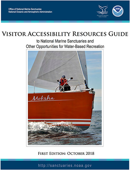 cover of the Visitor Accessibility Resources Guide to National Marine Sanctuaries and Other Opportunities for Water-Based Recreation