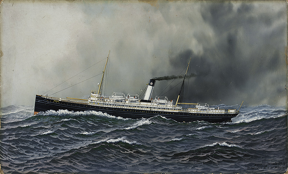 painting of the steamship proteus