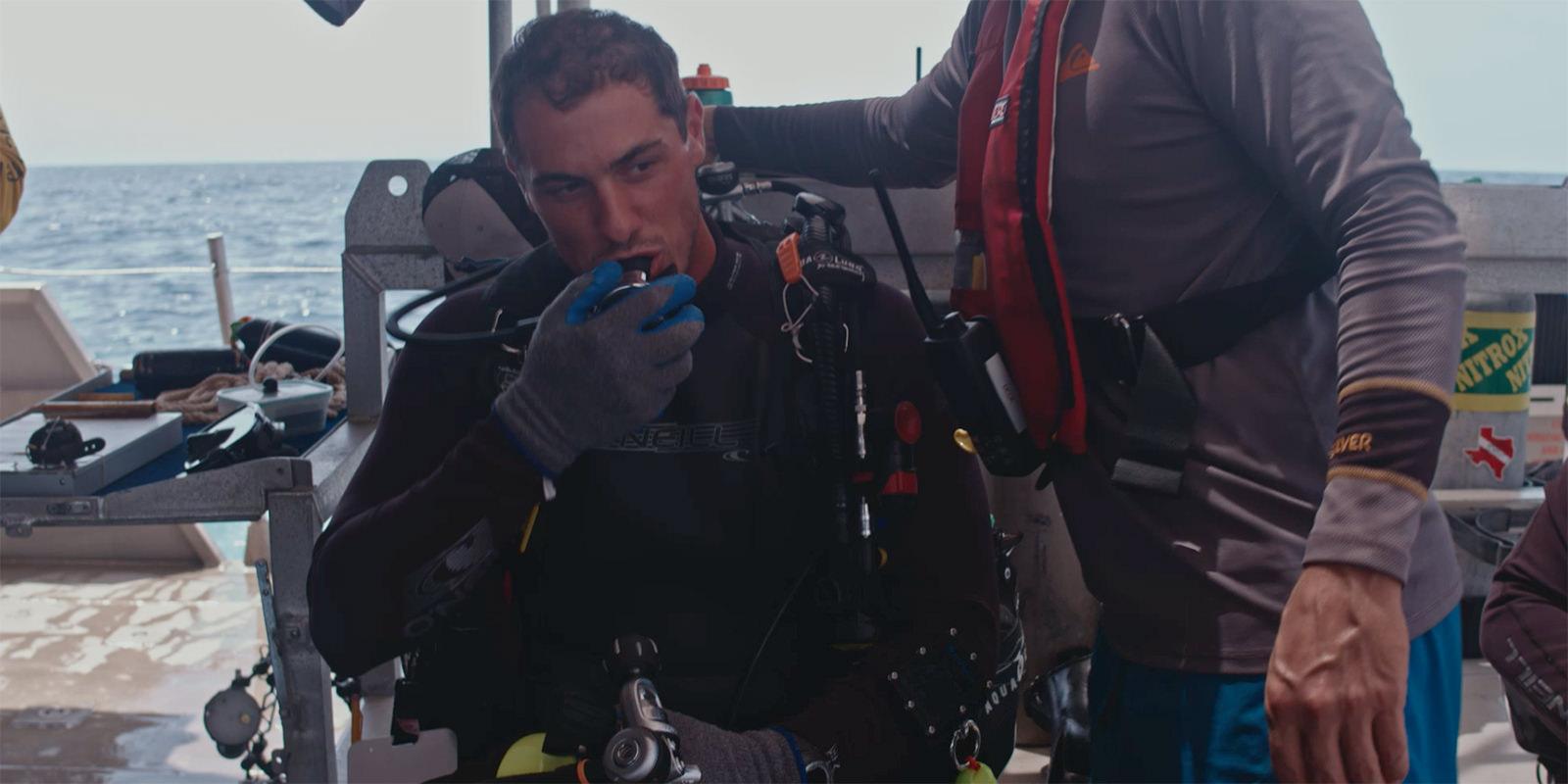 dustin picard wearing scuba gear