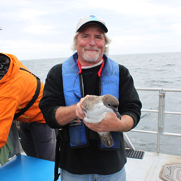 david wiley holding a shearwater