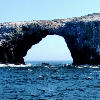 rock arch over the ocean