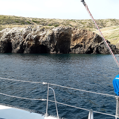 sea caves from a boat