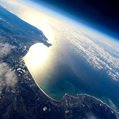 view of monterey bay as seen from space