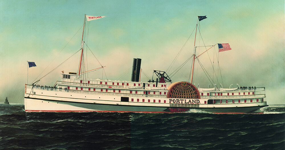 Painting of Portland vessel