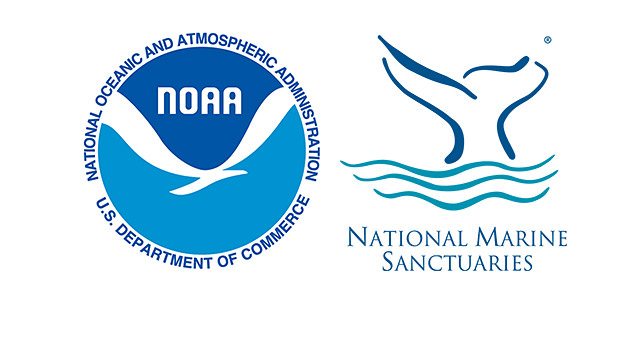 NOAA and Office of National Marine Sanctuaries logos next to each other