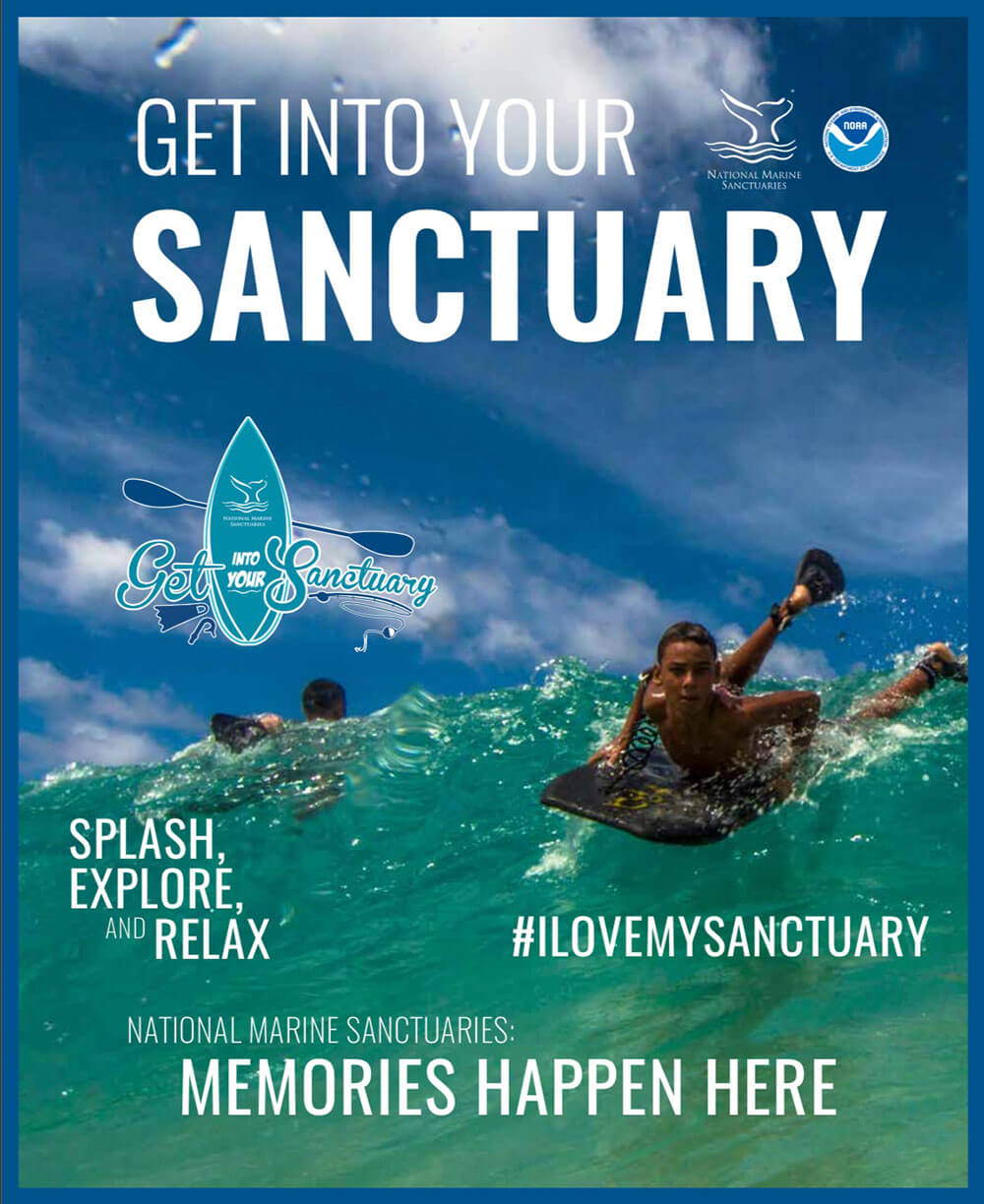 get into your sanctuary magazine - kid surfing